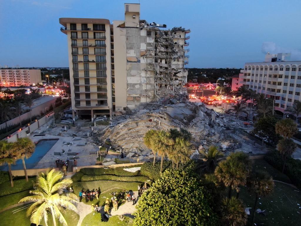 Derrumbe en Miami