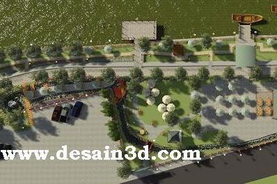Jasa design siteplan landscape resto cafe taman yang unik menarik dan tidak kuno