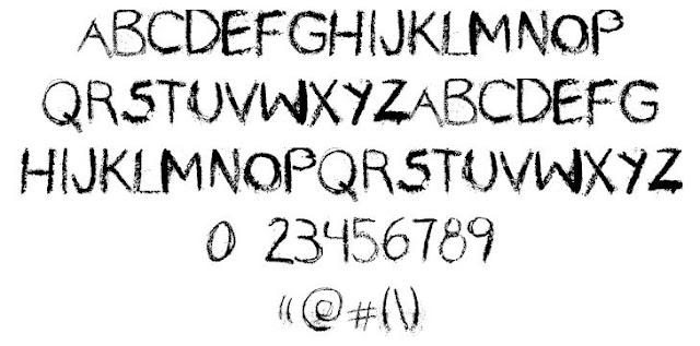 ini mempunyai model yang sama saat kita menulis pada papan tulis 18 Font Kapur Tulis Keren Untuk Desain