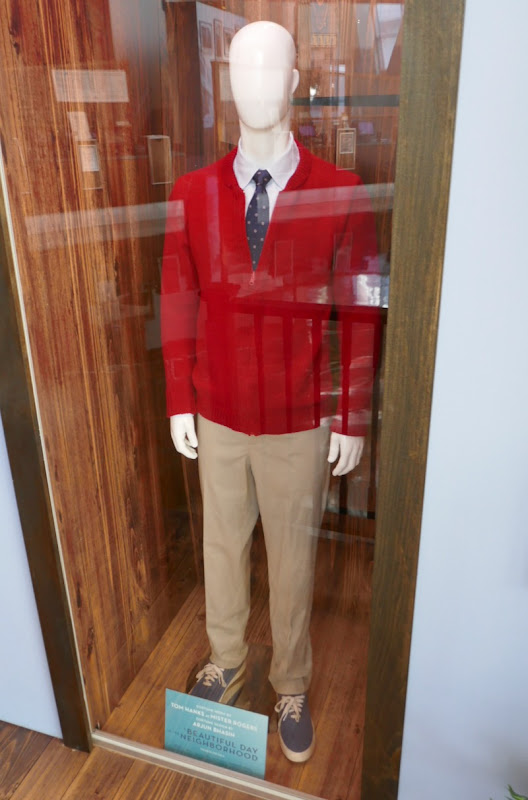 Tom Hanks A Beautiful Day in the Neighborhood Mister Rogers movie costume