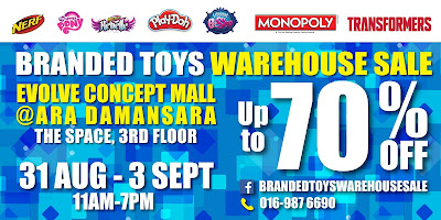 Branded TOYS Warehouse SALE Evolve Concept Mall