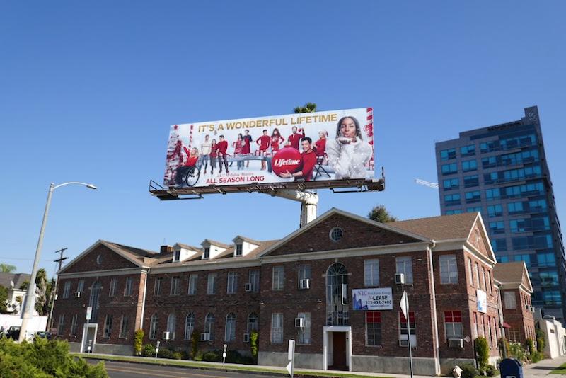 Its a Wonderful Lifetime Christmas billboard