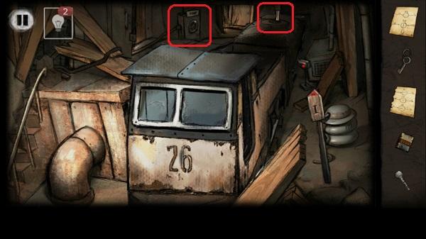 ручка из вагона в результате вращения колеса в игре выход из заброшенной шахты