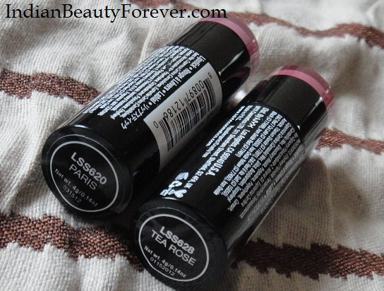 NYX Round Lipsticks Tea Rose and Paris Review
