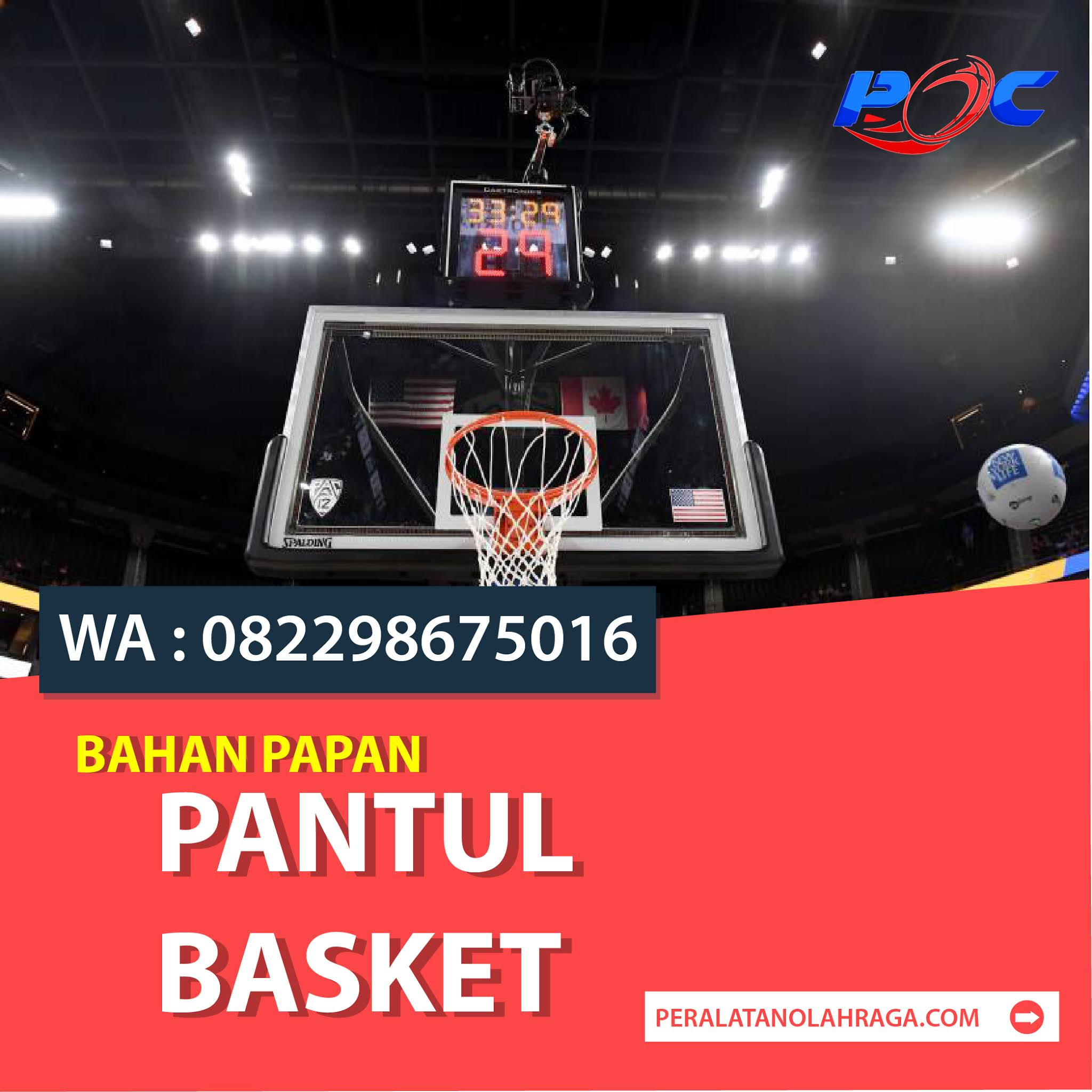 Bahan Papan Pantul Basket
