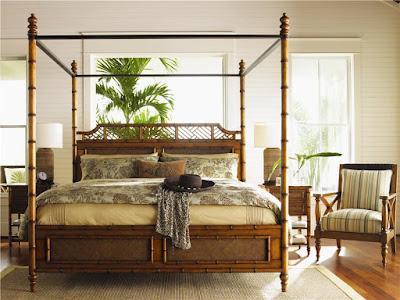 Baer's Furniture bamboo island decor bed