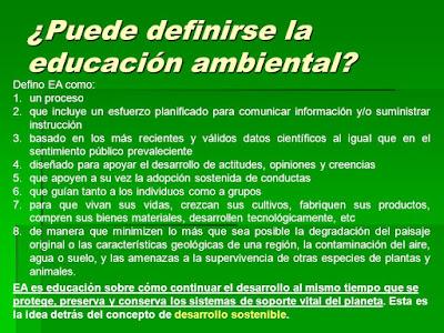 ¿Que es la Educación Ambiental?