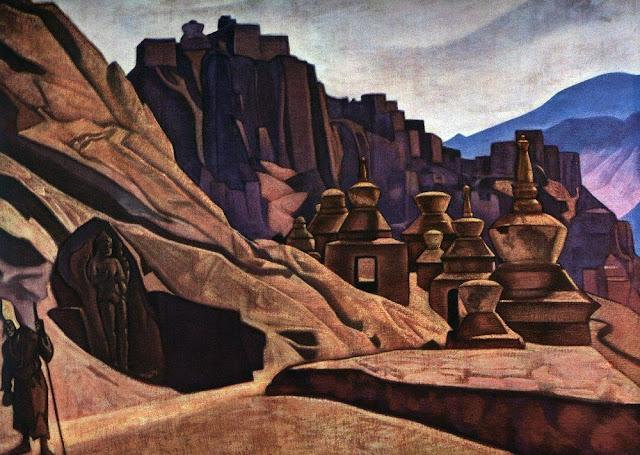 Николай Рерих - Твердыня стен. 1925