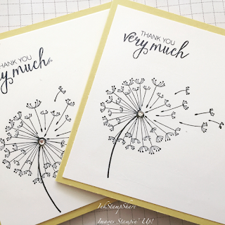 Thank You Cards using Dandelion Wishes stamp set