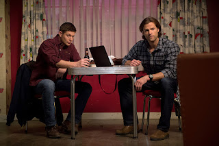 "Jensen Ackles as Dean Winchester and Jared Padalecki as Sam Winchester in Supernatural 11x13 ""Love Hurts"""