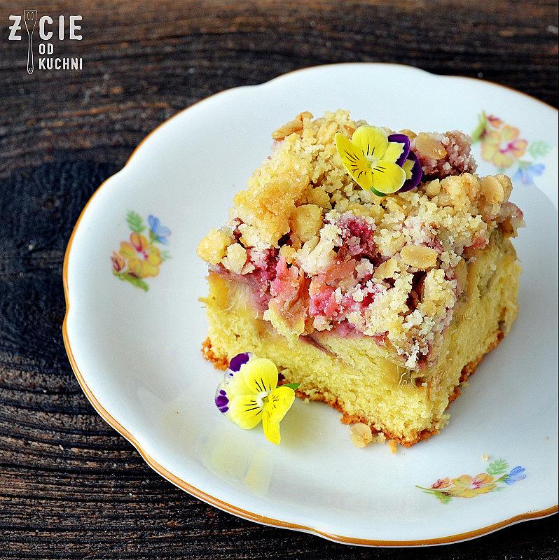 rabarbar, ciasto z rabarbarem