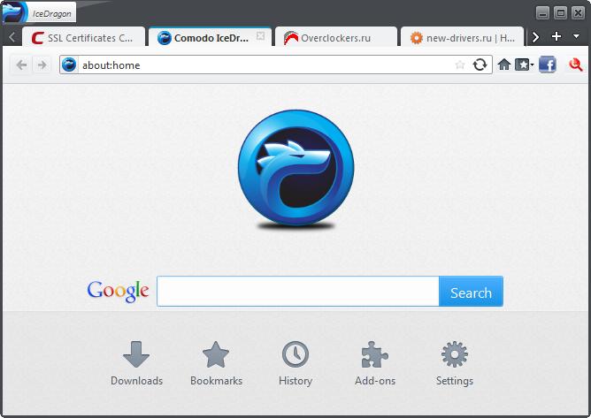 Browser Comodo IceDragon Terbaru