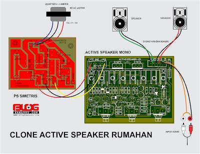 Cara membuat speaker Active yang Banyak di Pasaran