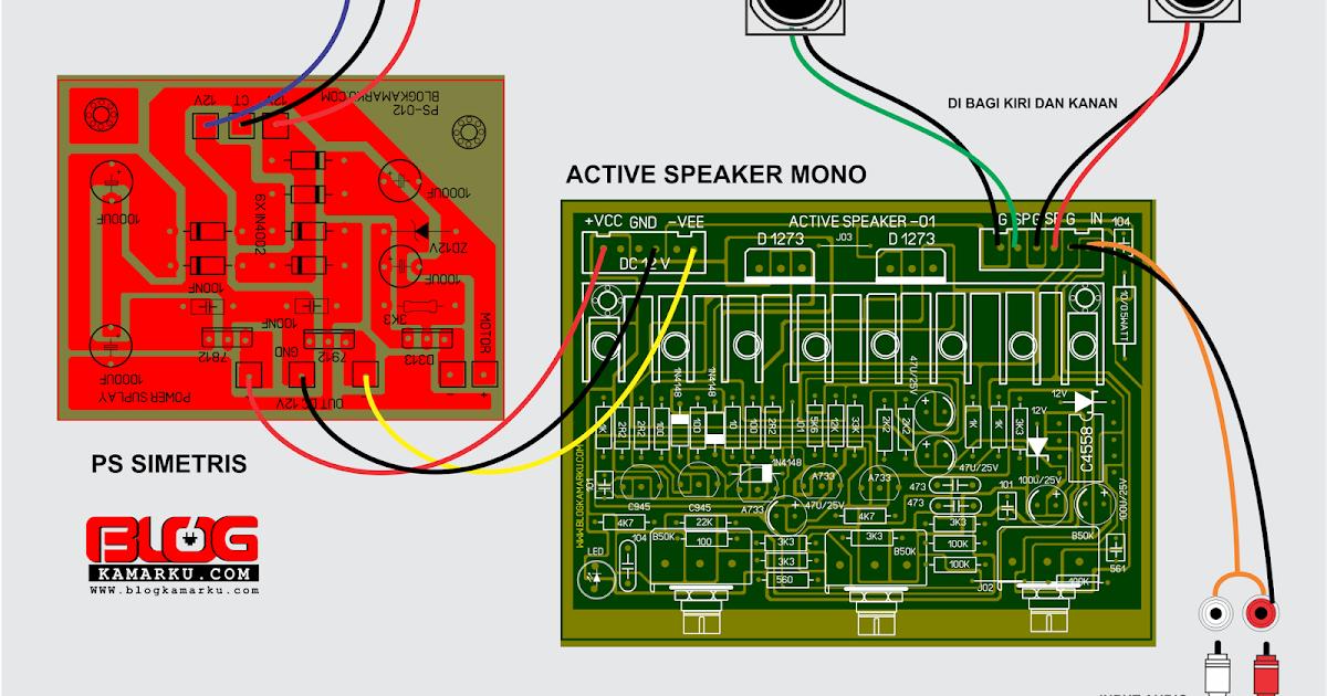 Cara membuat speaker Active yang Banyak di Pasaran - Blogkamarku com