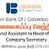 Vacancy In Union Bank Of ( Colombo) PLC