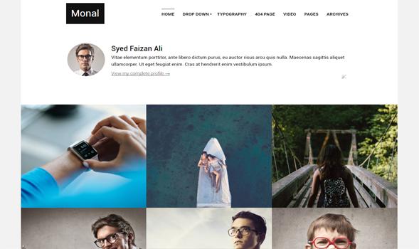 monal portfolio personal responsive blogger template templateism