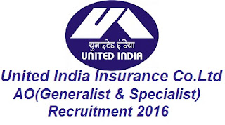 uiic ao recruitment 2016