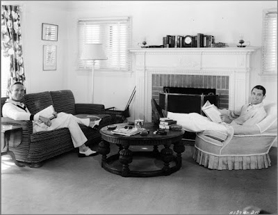 Cary Grant (right) and Randolph Scott (left) in their Santa Monica beach house.
