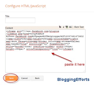 How to add HTML Code in Blogger