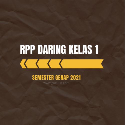 gambar rpp daring kelas 1 semester 2