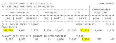 DXY COT Futures Report July 2019
