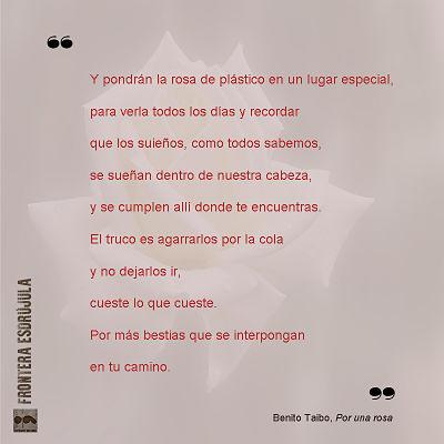 Por una rosa- Benito Taibo- reseña