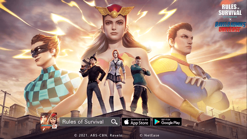 """Pinoy superheroes Darna, Captain Barbell and Lastikman joins """"Rules of Survival"""""""