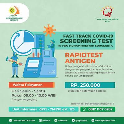 tarif rapid test antigen pku muhammadiyah solo