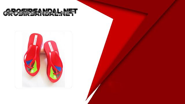 Sandal Wedges RSL Motif BJG | Model Sandal Unik dan Kenikian