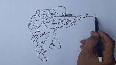 Cara Menggambar Orang Psikotes TNI