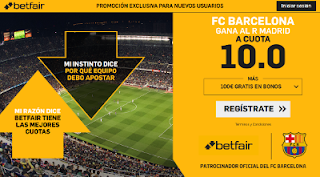 betfair supercuota clasico liga Barcelona gana Real Madrid 2 marzo 2019