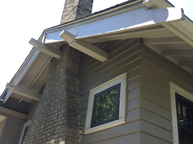 Sears craftsman purlins on Sears Ashmore model in Cleveland Heights 3064 Corydon Rd James J Humpal testimonial