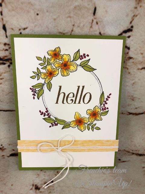 Floral Frames, Frenchie' Team, Stampin'Up!, New release stamp set in the Annual catalog,