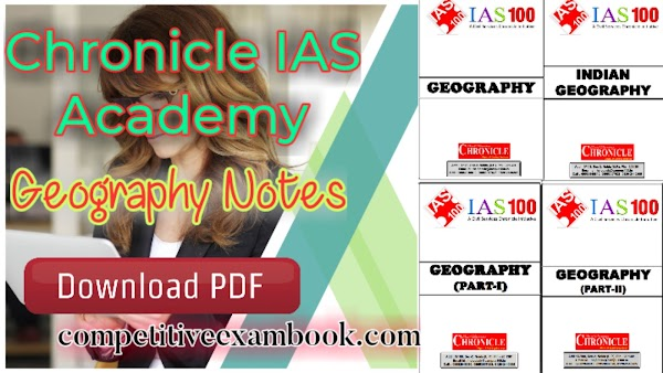 Chronicle IAS Academy – Geography Notes PDF
