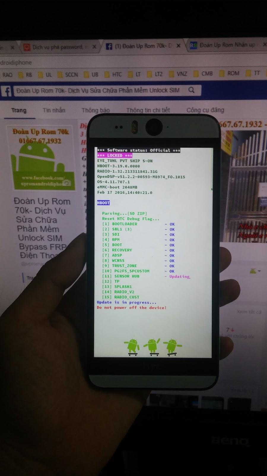 RUU zip rom gốc rom stock mới nhất HTC Desire EYE 0PFH