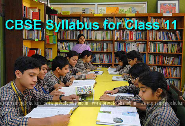 CBSE Class 11 Syllabus