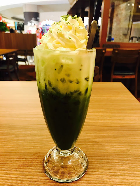 Monster Curry (Suntec City) - Matcha Latte with Azuki