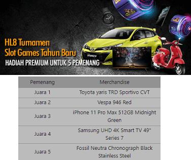 Turnamen Slot Games Berhadiah Toyota Yaris TRD