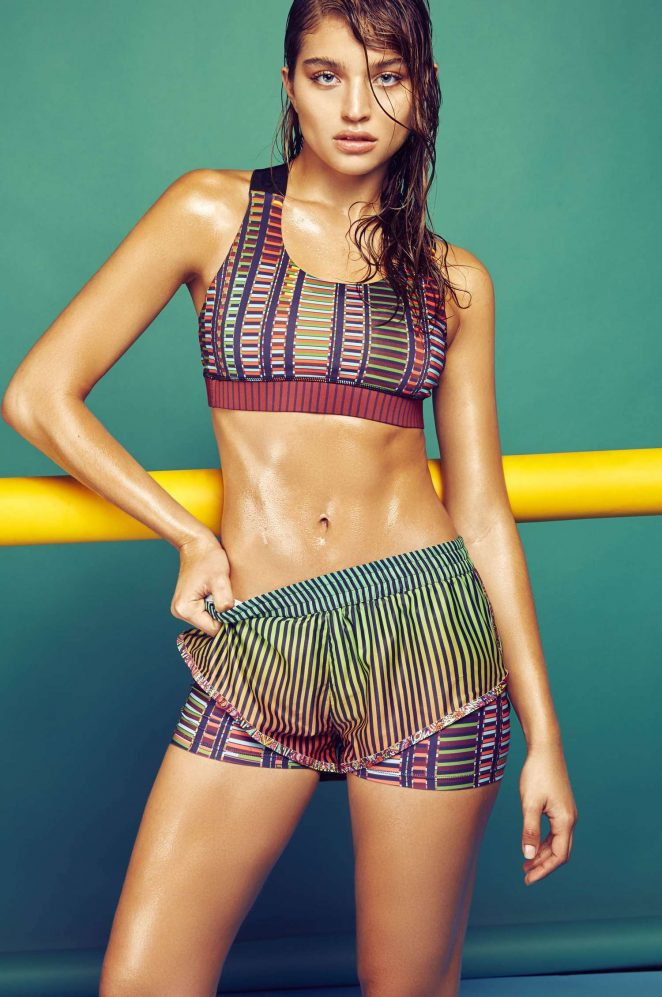 Agua Bendita Activewear Lookbook 2016 featuring Daniela Lopez Osorio