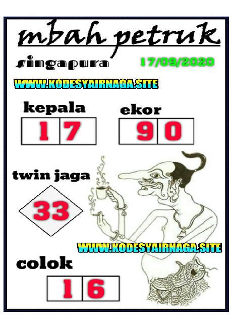 Kode syair Singapore Kamis 17 September 2020 227