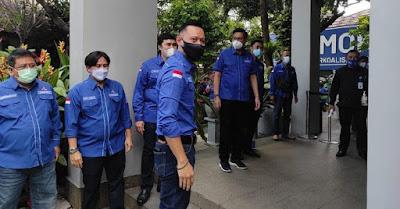 AHY bersama 34 ketua DPD pergi ke kemenkumham
