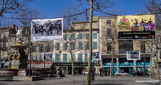 Place Carnot, no Centro de Carcassonne