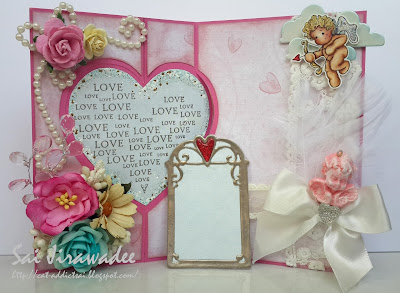 Magnolia Heart Flip Card