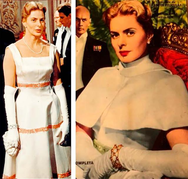 Ingrid Bergman vestido de branco em Anastasia