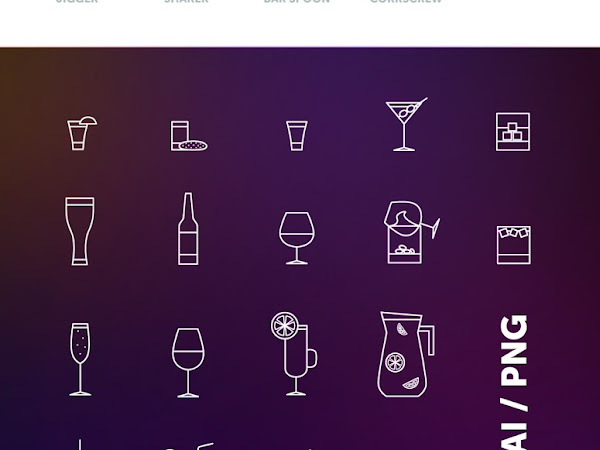 Download Bar Drink Beverage Icons Set Free