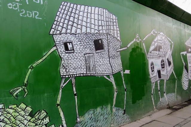 Copenhagen in Winter: street art near the Copenhagen Central Station