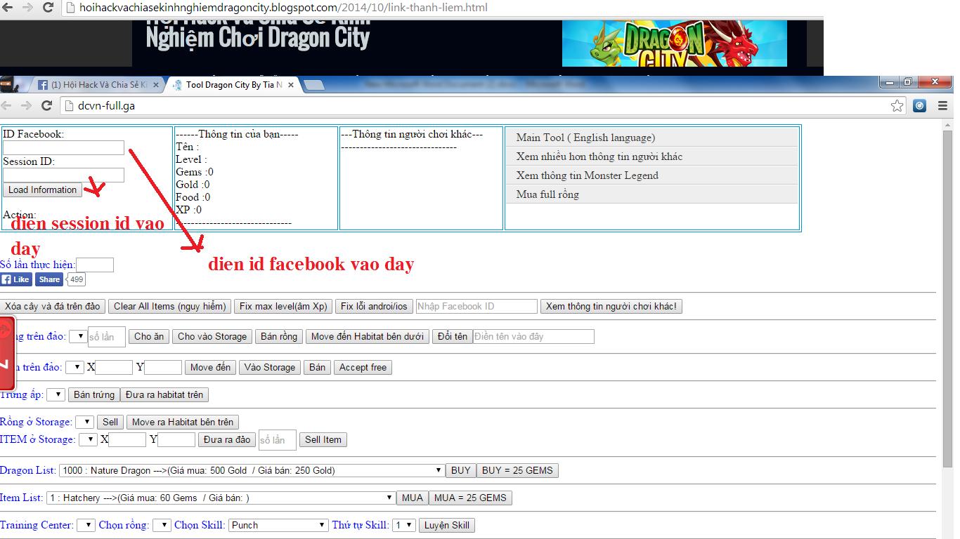 Mua Habitas-Items - Hội Hack Dragon City Facebook