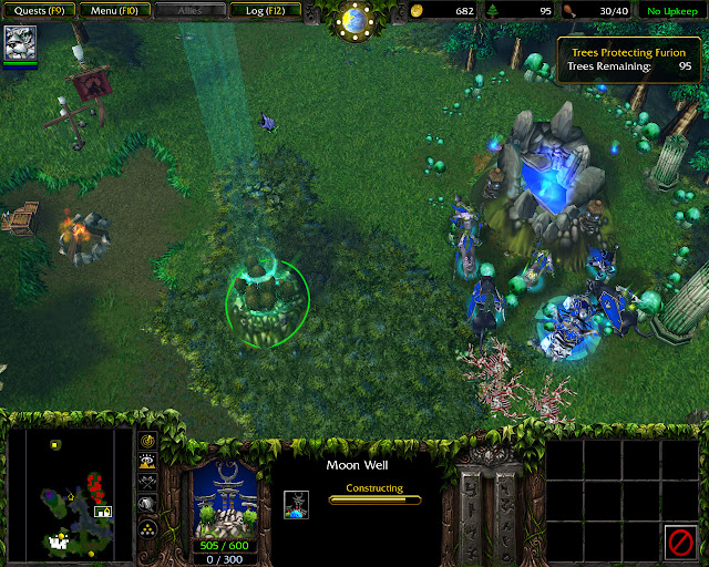 The Awakening of Stormrage Mission 30 | Moon Well Screenshot | Warcraft 3: Reign of Chaos