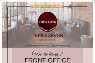 Lowongan Kerja Karyawan Front Office Triple Seven Bandung