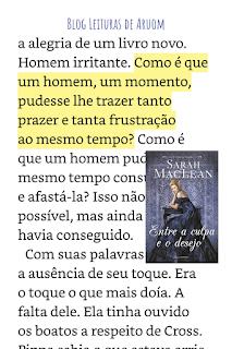 imagem frases do livro entre  a culpa e o desejo seis